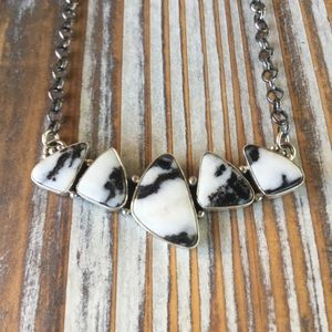 Navajo White Buffalo & Sterling Silver Necklace